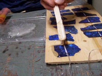 Make a durable solar panel case from epoxy