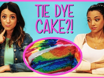 NikiAndGabiBeauty Rainbow Tie Dye Cake?! | DIY or Di-Don't