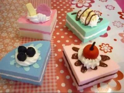Squishy cake slice tutorial - Fetta di torta squishy ♥
