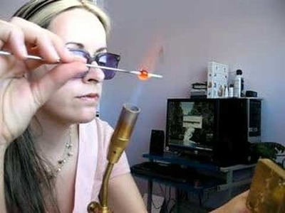 Torching a Millefiori bead