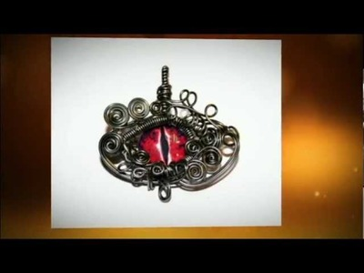 Wire Wrap Jewelry - Dragon Eye Pendants