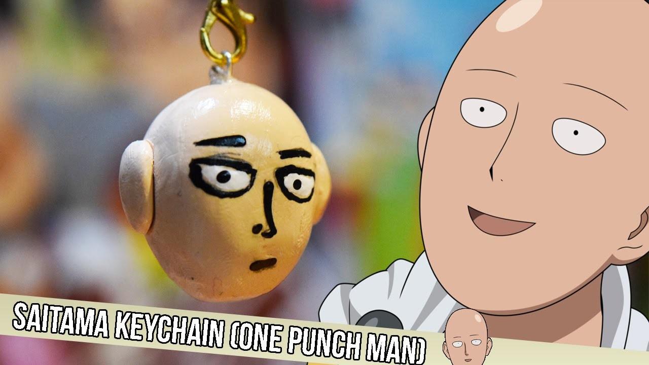 Anime Decorations DIY: Saitama Keychain (One Punch Man)