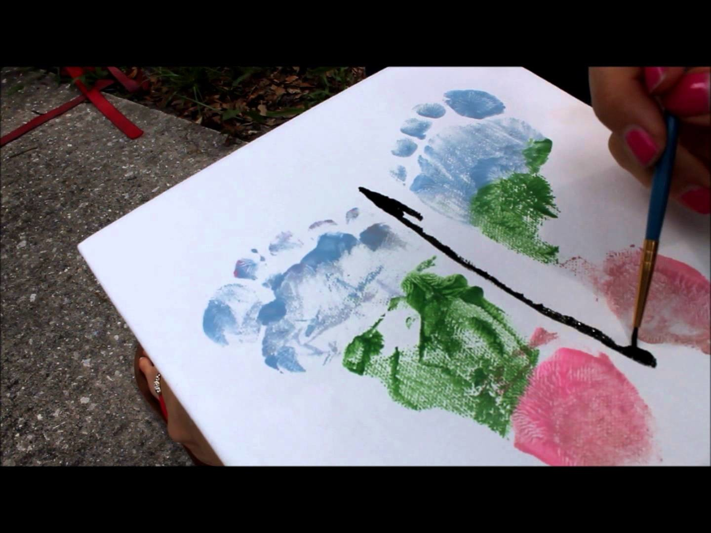 DIY BUTTERFLY FOOTPRINT CANVAS