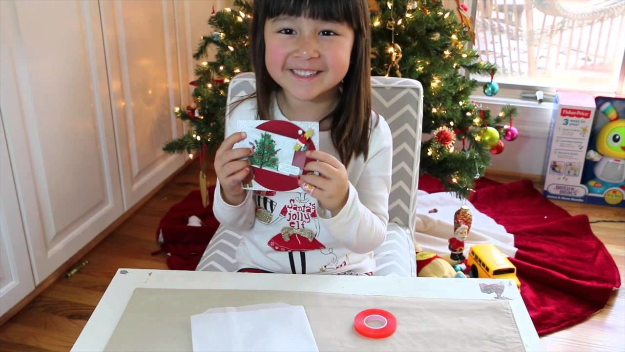 DIY christmas gift card holder.age 4