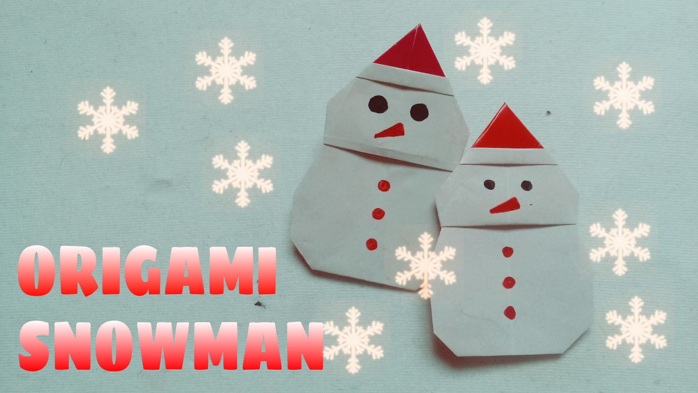 DIY Christmas Ornament - Origami Snowman