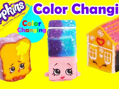 DIY Color Changing Shopkins Polished Pearl Erica Eraser, Ginger Fred, and More