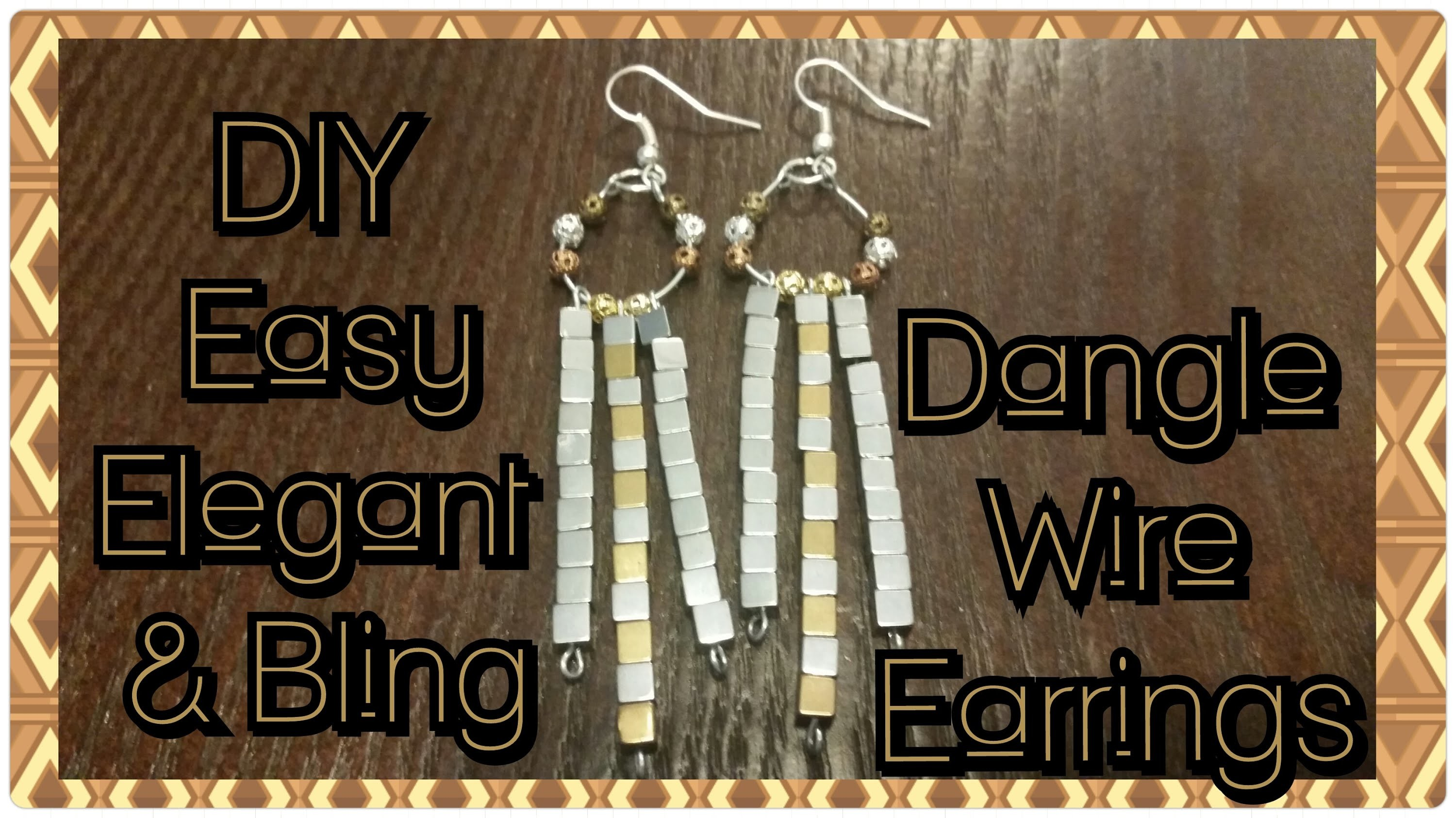 DIY Easy Elegant & Bling Dangle Wire Earrings