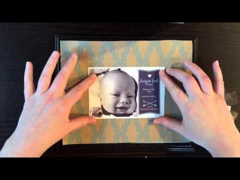 DIY Framed Baby Announcement