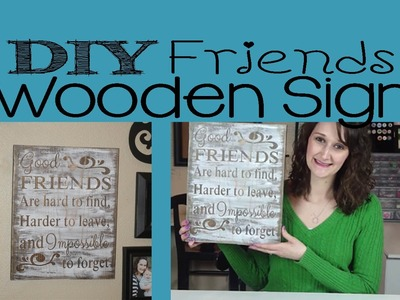 DIY Friends Wooden Sign | #62