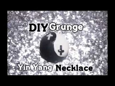DIY Grunge Yin Yain Necklace