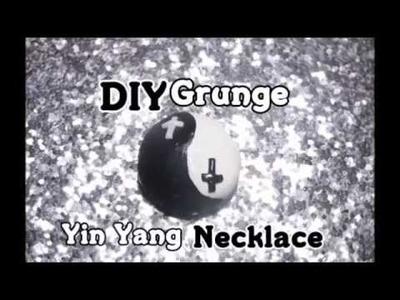 DIY Grunge Yin Yain Necklace