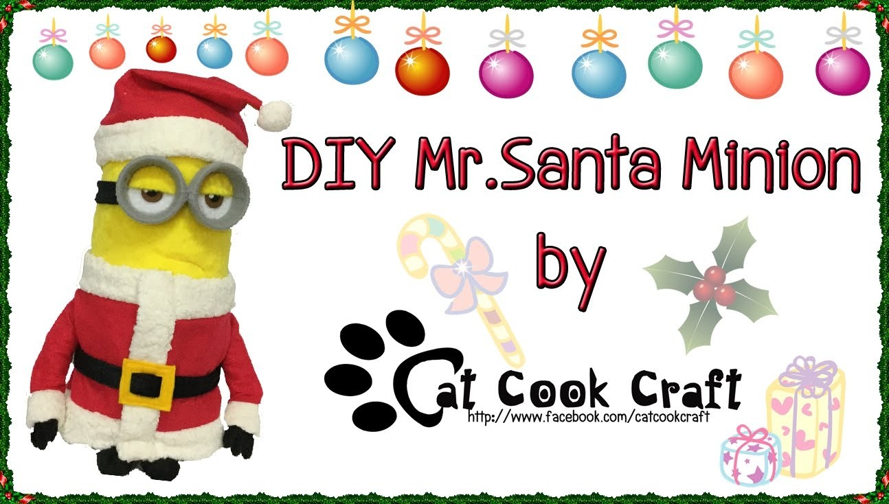 DIY Mr. Santa Minion outfit (Free pattern)