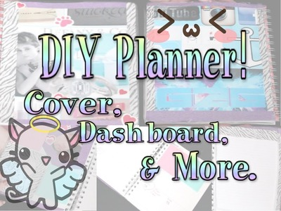 DIY PLANNER! Cover, Dashboard, and notebook ♥ GlitterToGaming ♥ HD