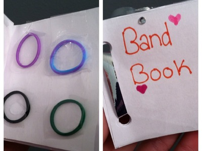 DIY: RainbowLoom band book♡