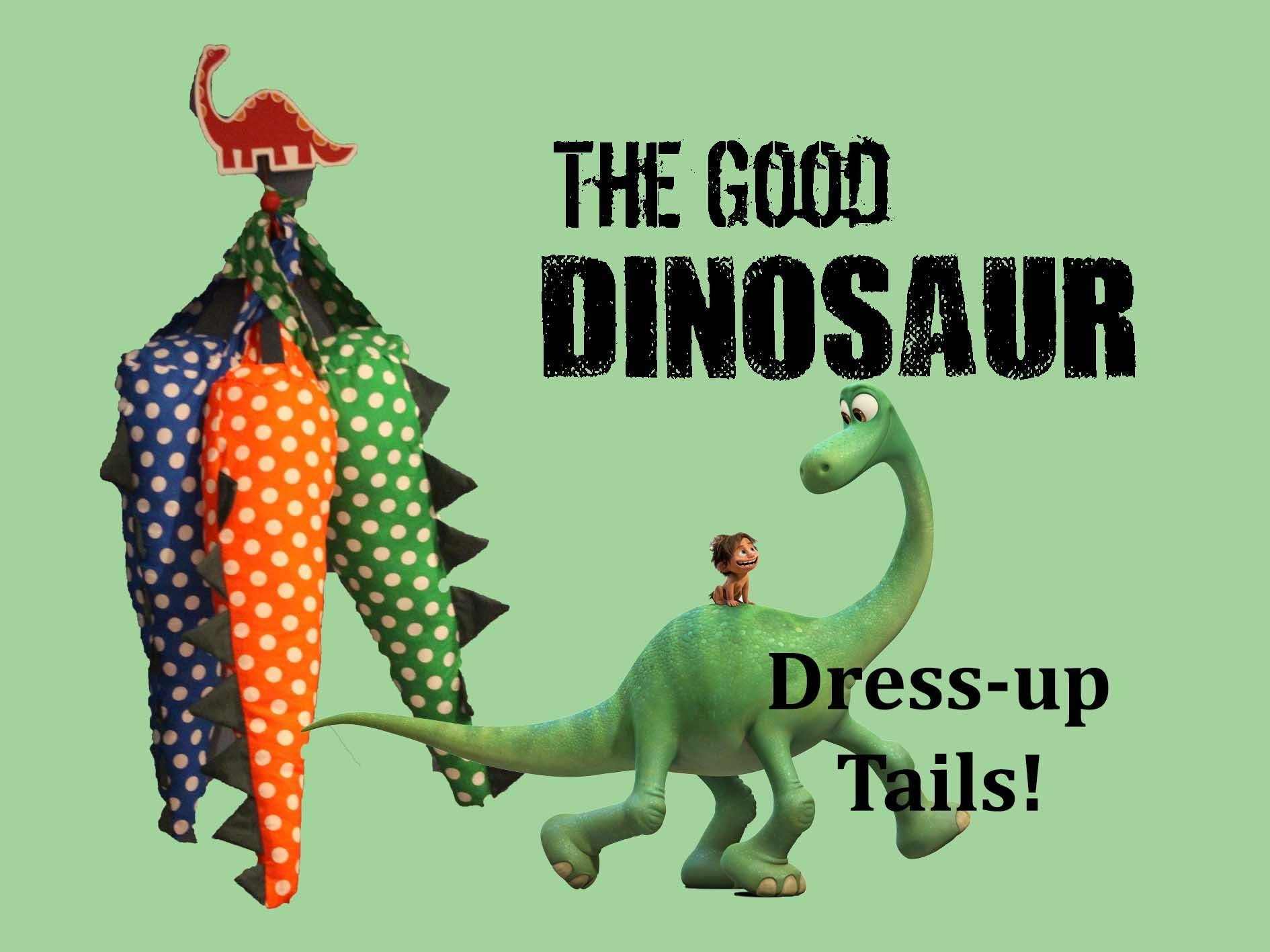 DIY - The Good Dinosaur Dress up Tails!!