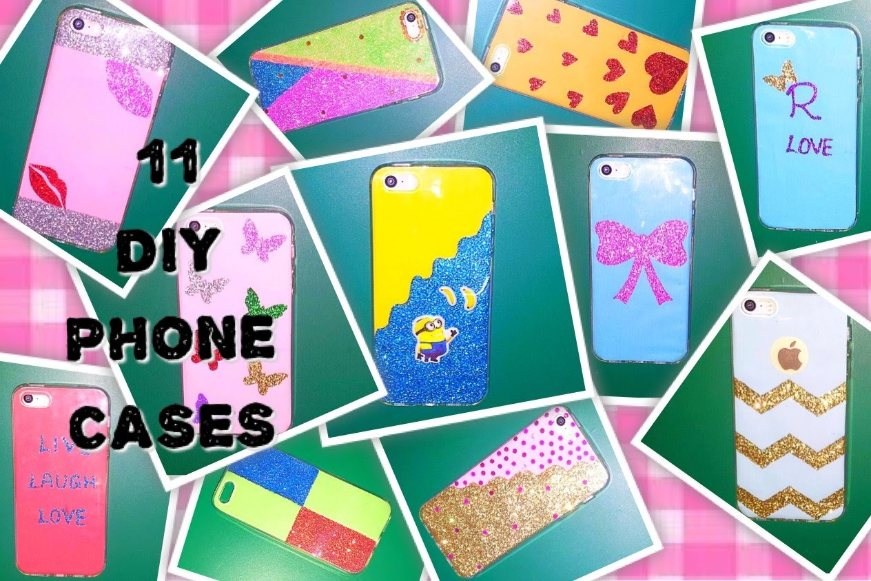 DIY Tumblr inspired Phone Cases (Minion, Chevron, Lips, Butterfly, Hearts, Bow, Glitters +More)