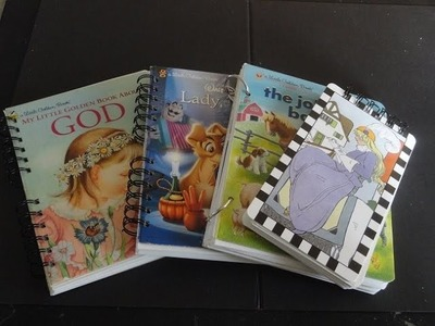 DIY Turn Little Golden Books into Journals!