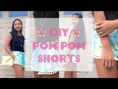 Easy DIY Pom Pom Shorts