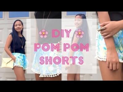 Easy DIY Pom Pom Shorts