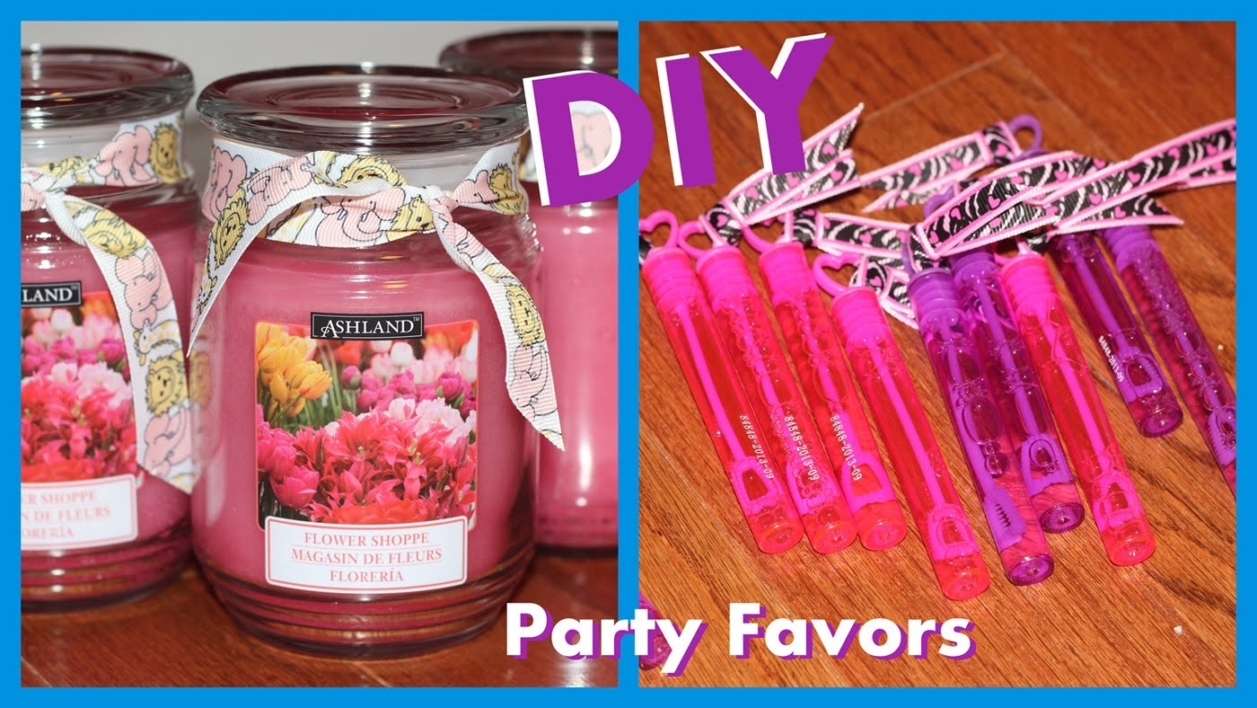 Easy DIY Shower Favors - Or for Birthdays