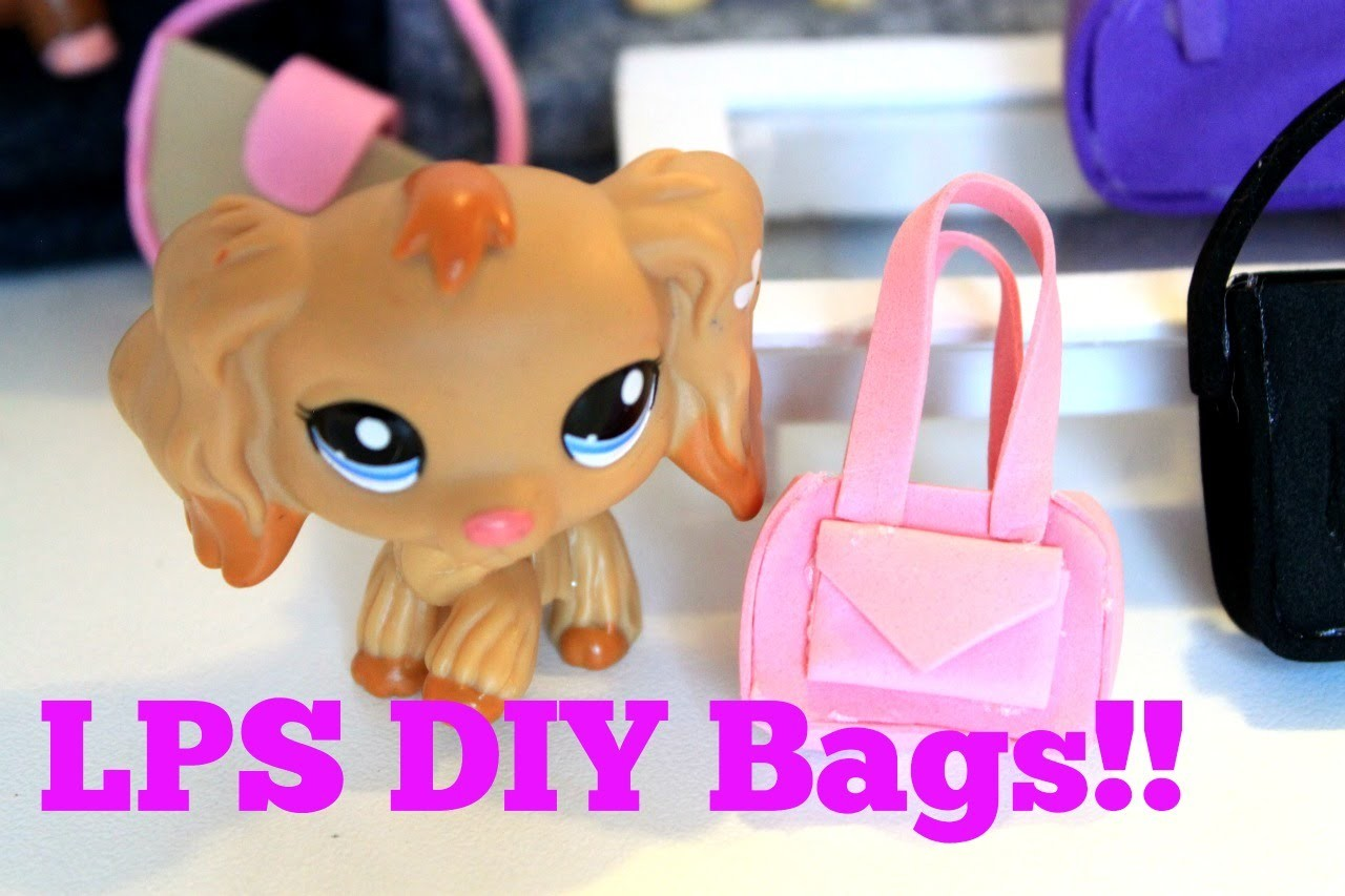 How to make LPS bags and purses EASY DIY