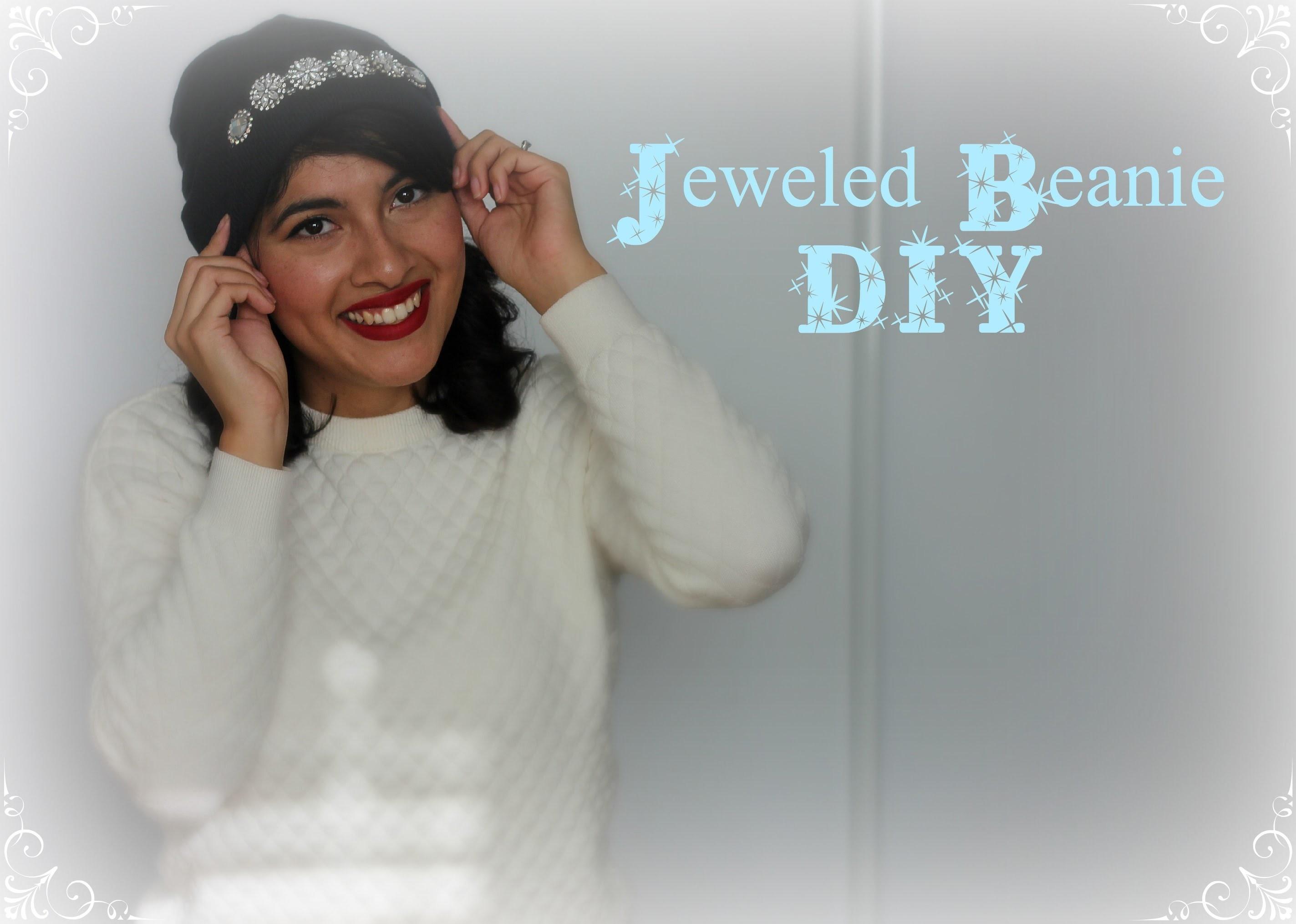 Jeweled Beanie DIY