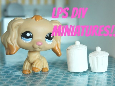 LPS DIY How to make miniature Kitchen containers for LPS Littlest pet shop Magic clip dolls etc