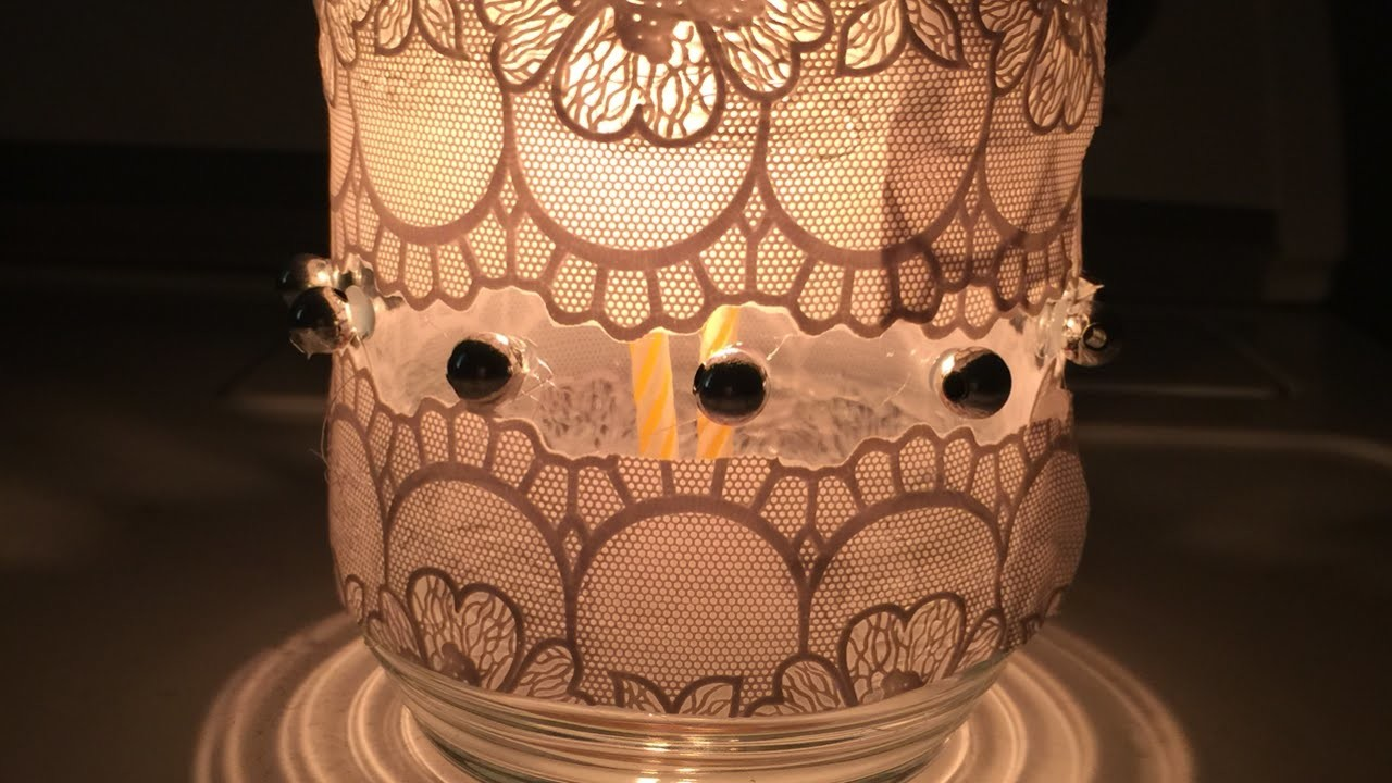Make a Simple Decorative Lace Candle Holder - DIY Home - Guidecentral