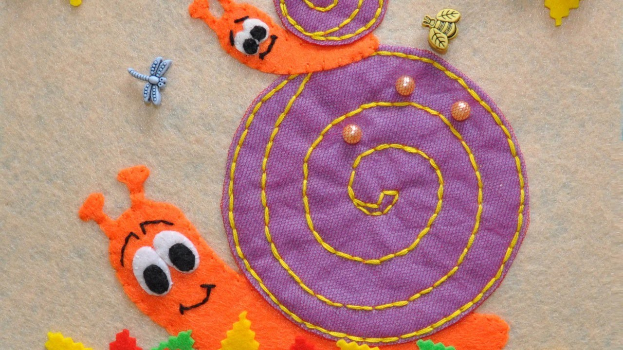 Sew a Felt Children's Game Snail Labyrinth - DIY  - Guidecentral