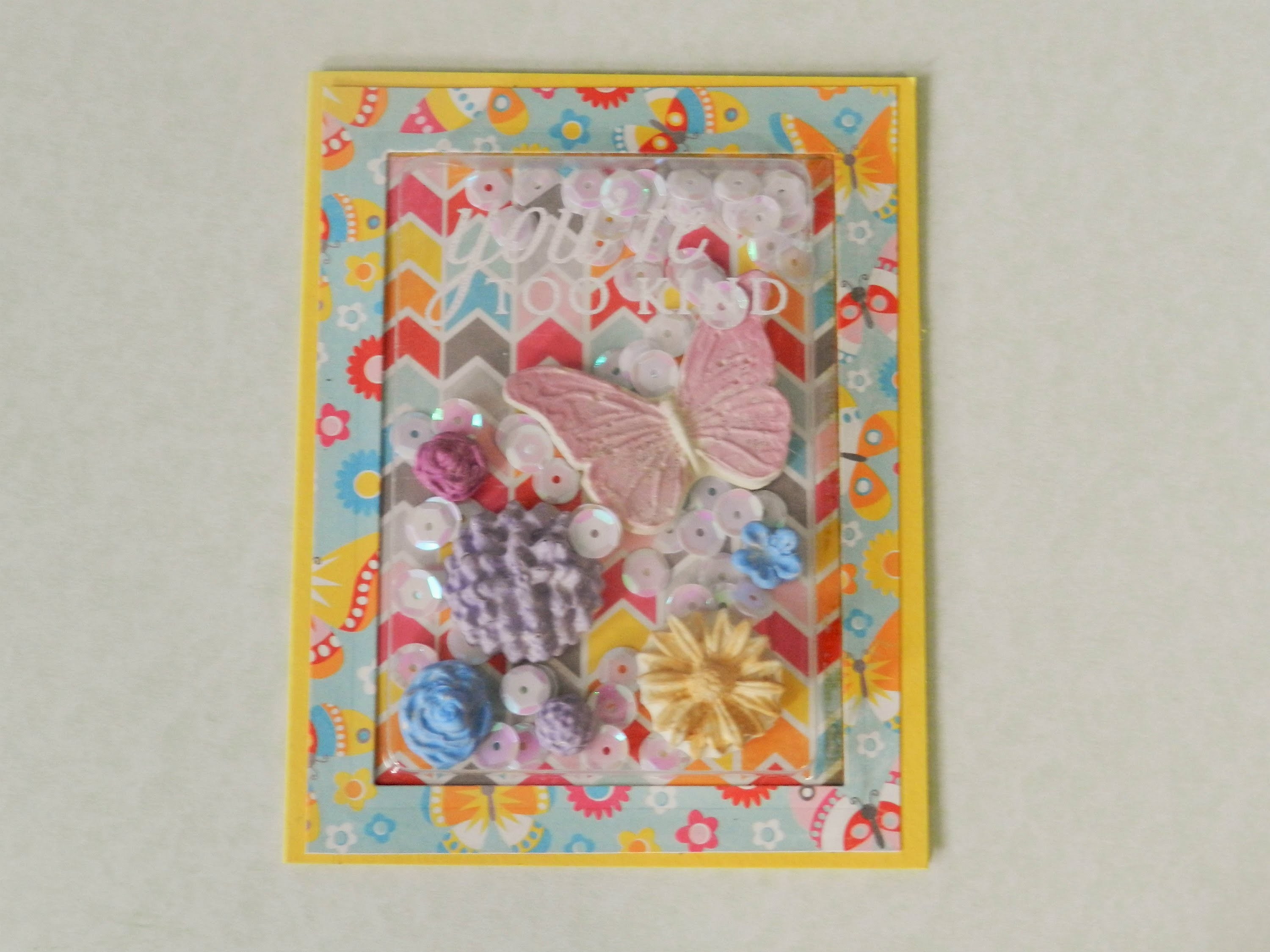 Shake It Friday ~ Fab Shaker Card w. DIY UTEE Dimensional Embellishments