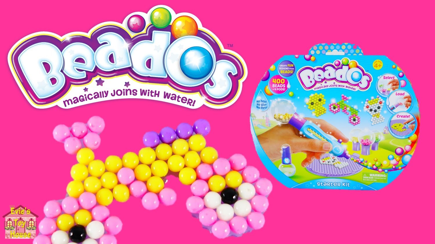 Beados Starter Kit - Quick Dry Magic Beads Review and Tutorial | Evies Toy House