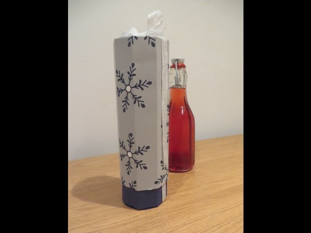 Bottle Gift Box for Homemade Blackberry and Apple Gin, Video Tutorial - Handmade Christmas Idea