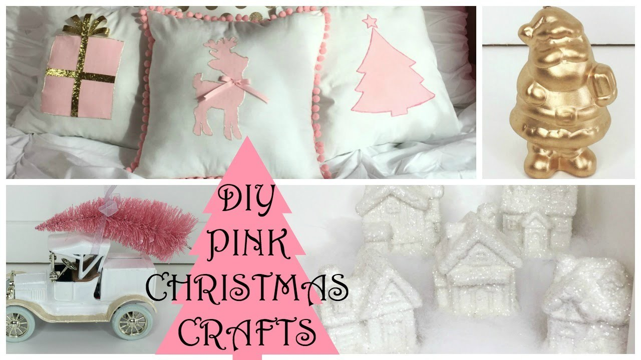 CHRISTMAS DIY CRAFTS 2015 ♡ Pink Christmas Decorations!