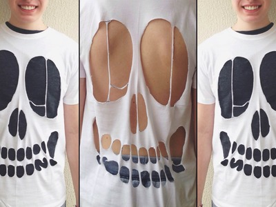DIY #13: Caveira cortada na camisa (Skull Shirt Cut Out)