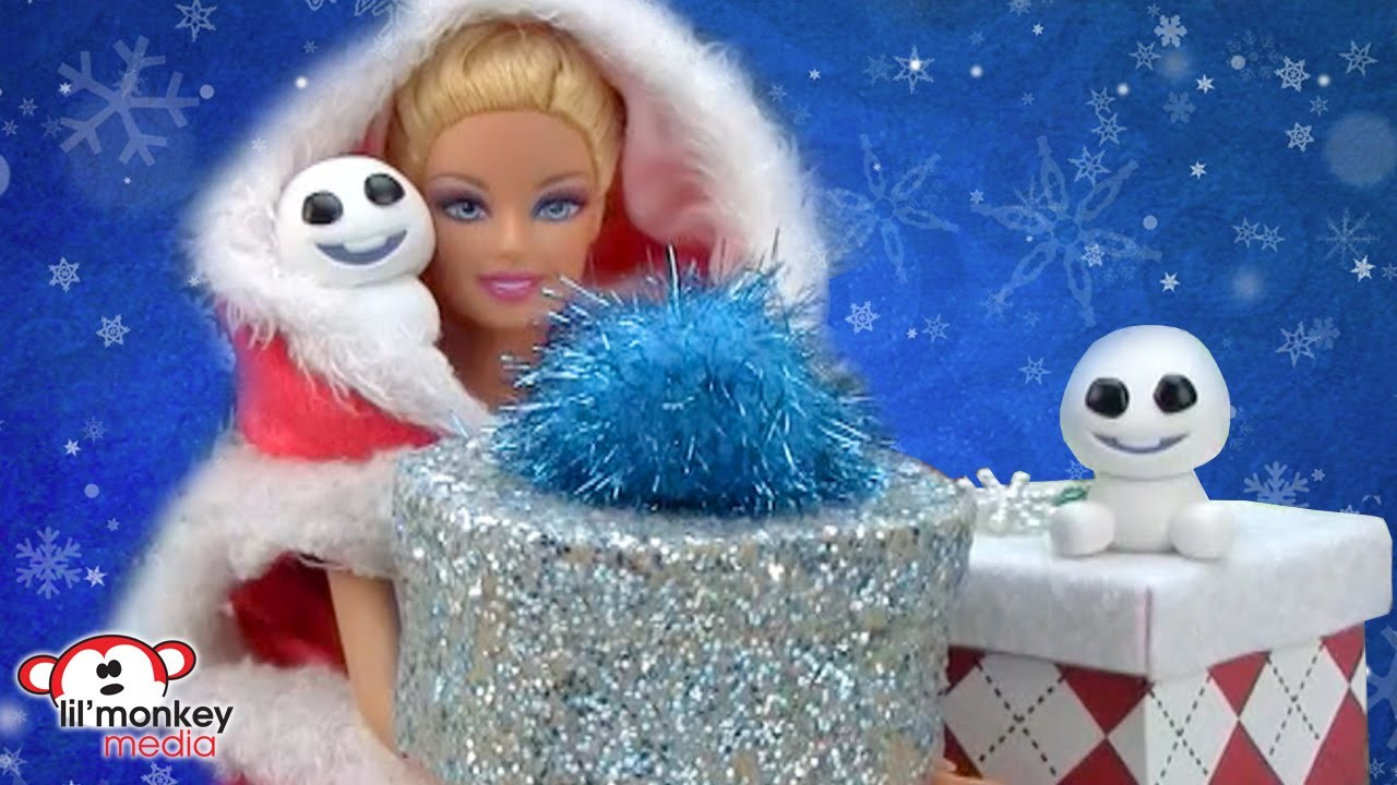 DIY Barbie Christmas Crafts and Gift Opening!