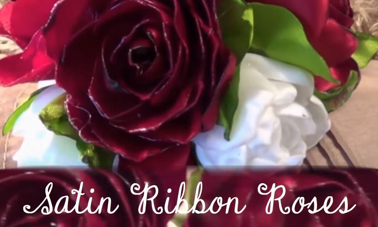 DIY Beautiful Satin Ribbon Rose
