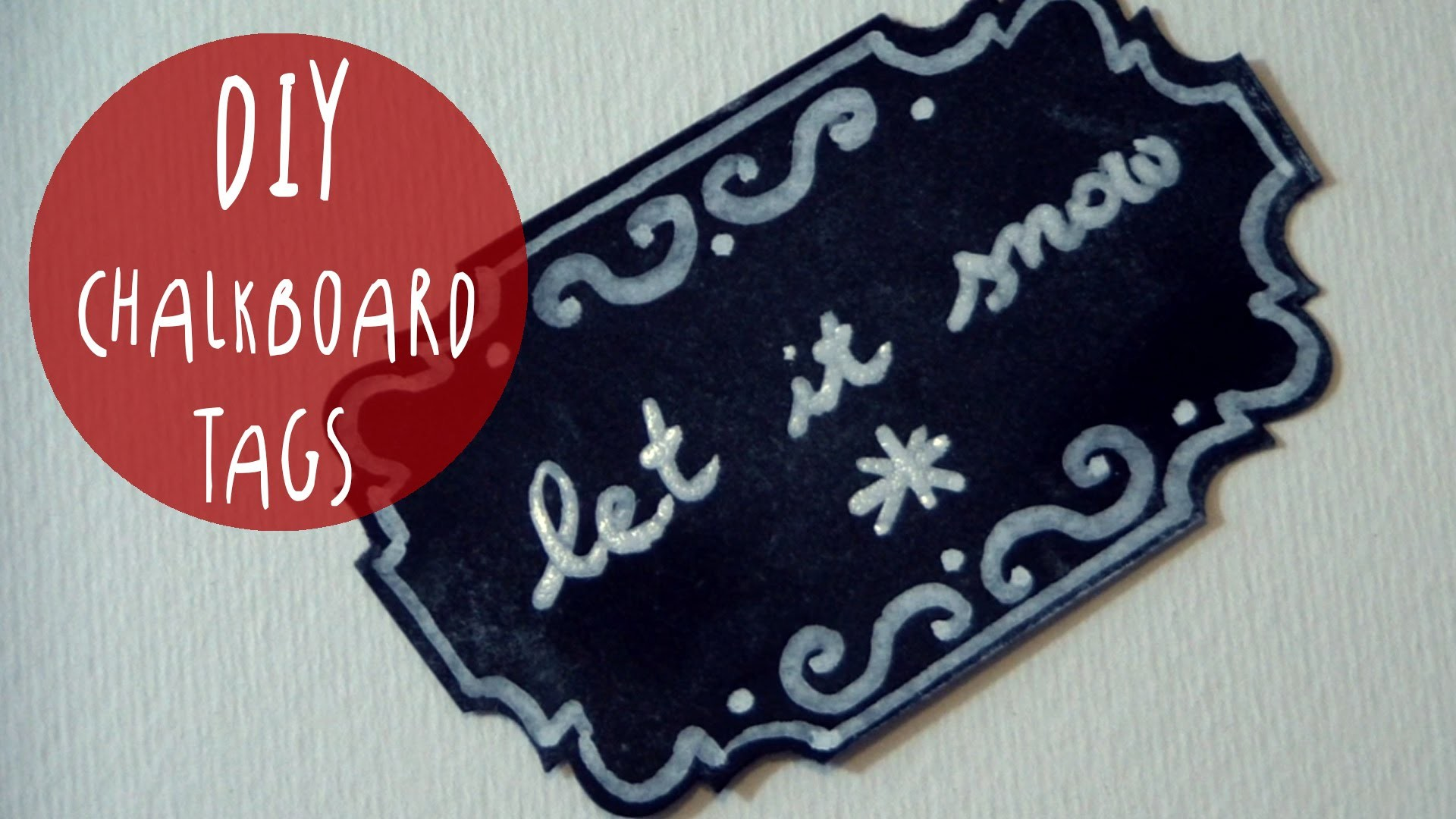 DIY Chalkboard TAGS for Gift wrapping and decorating * XMAS crafting IDEA by ART Tv