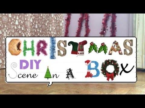 DIY christmas scene in a box