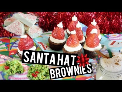 DIY Christmas Treats ~ Santa Hat Brownies & More!!