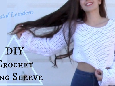 DIY Crochet Long Sleeve Top pt 1