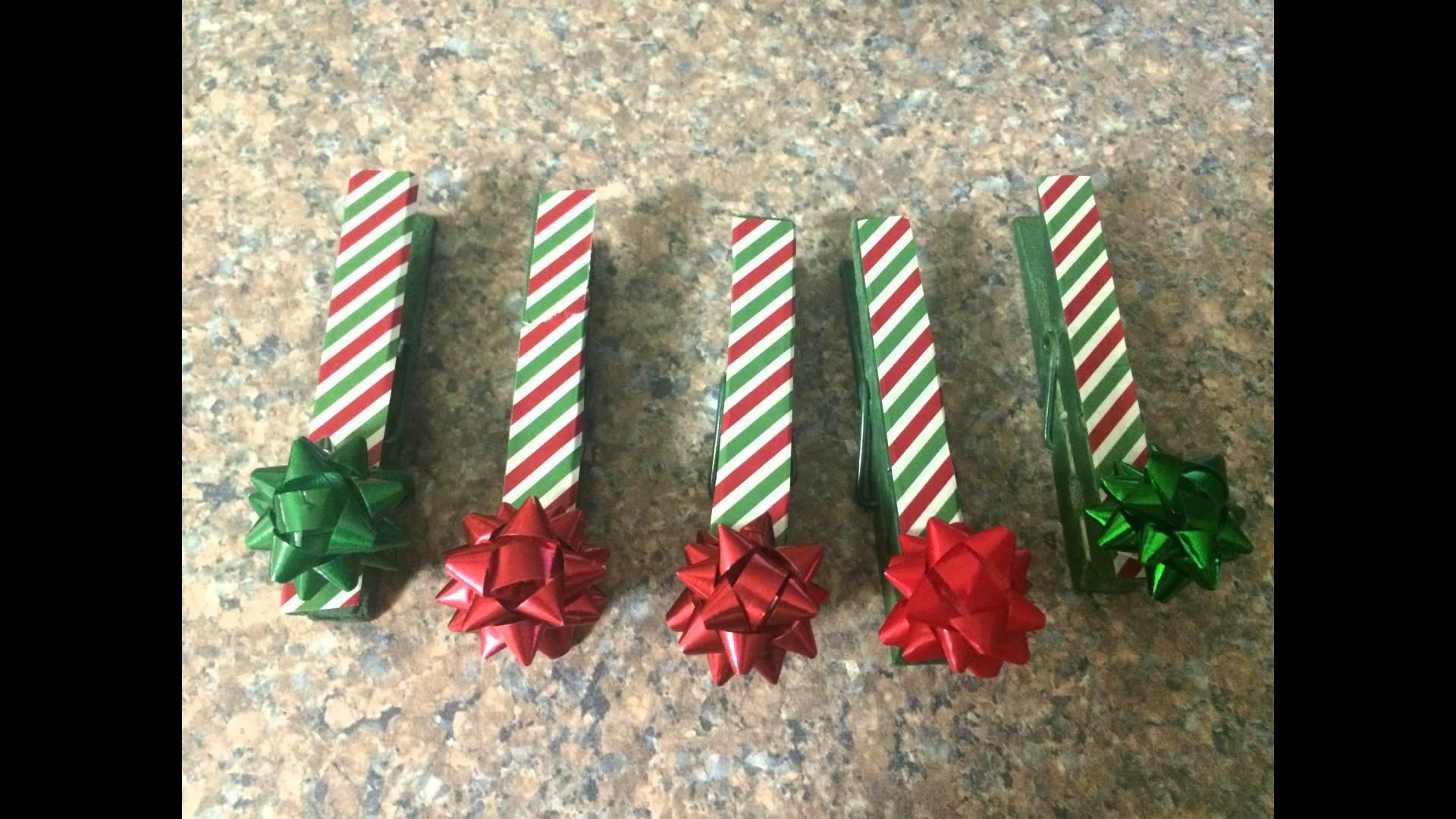 DIY Dollar Tree Clothespin Christmas Card Holder