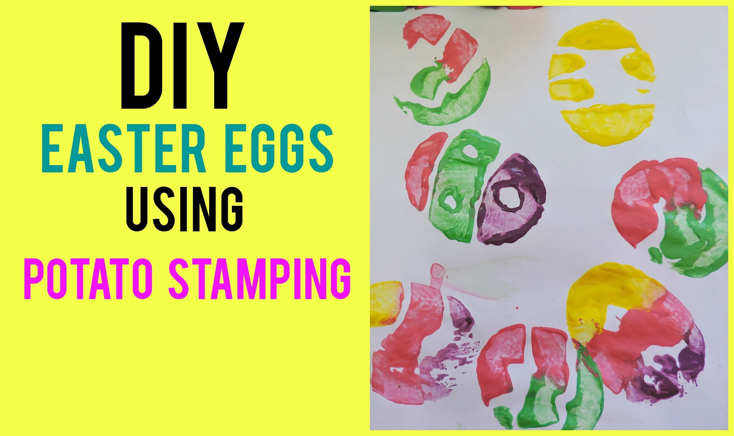 DIY: EASTER EGG POTATO STAMPING