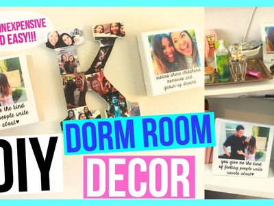 DIY Easy Dorm Room Decor | Polaroid Canvases