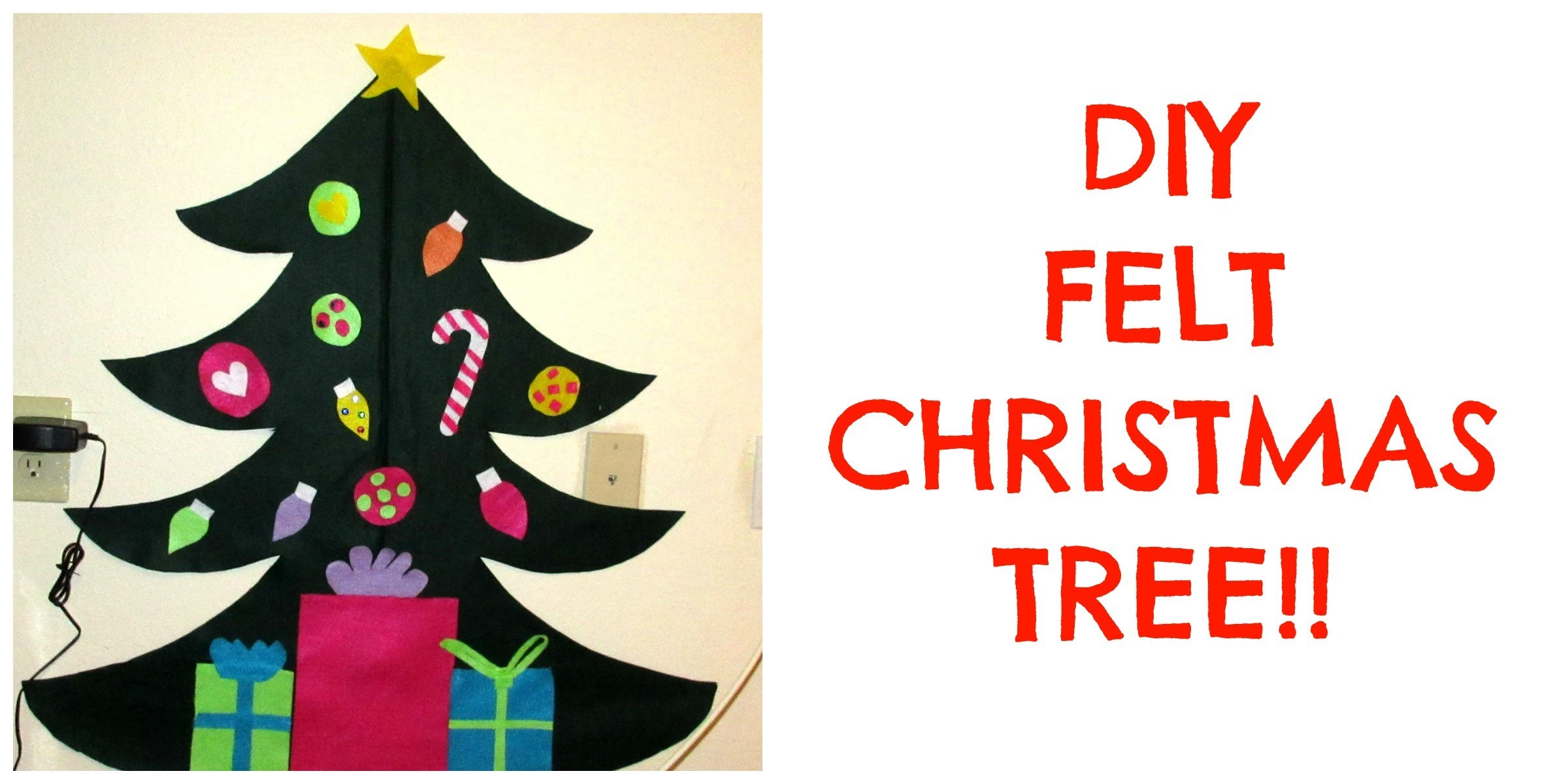 DIY FELT CHRISTMAS TREE - TODDLER ACTIVITY!