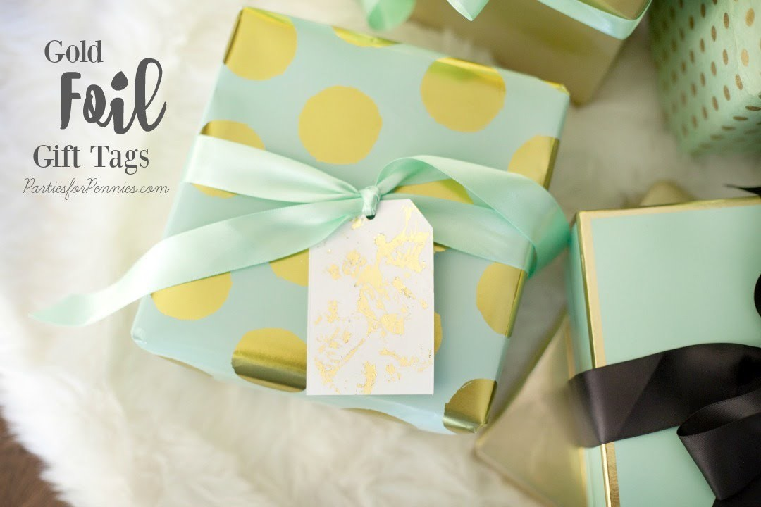 DIY Gold Foil Gift Tags