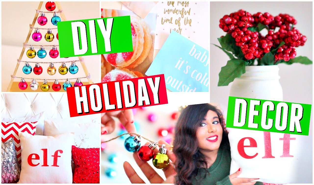 DIY Holiday Room Decorations! Redo Your Room with Easy Decor! 2015