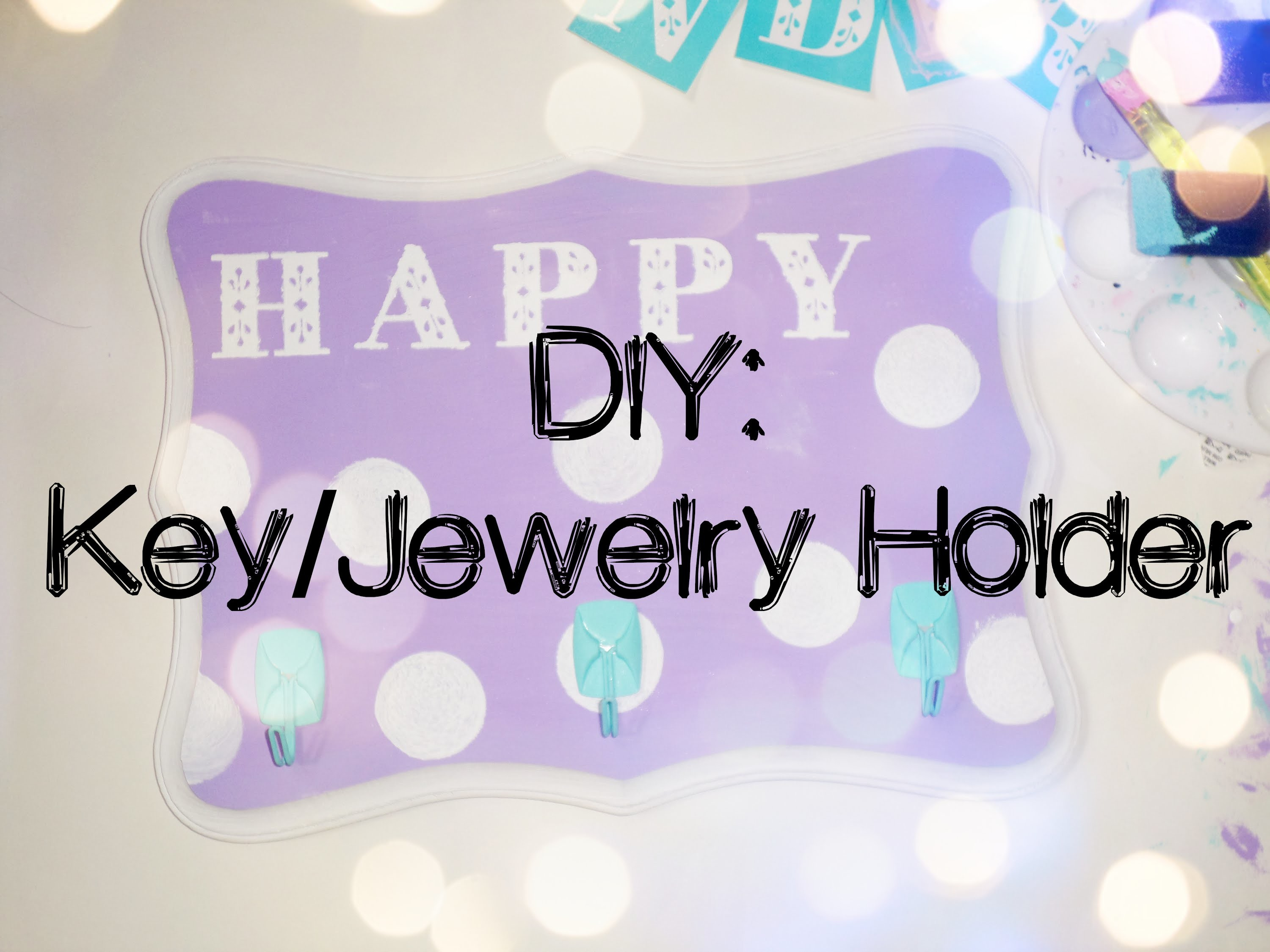 DIY: Key.Jewelry Holder