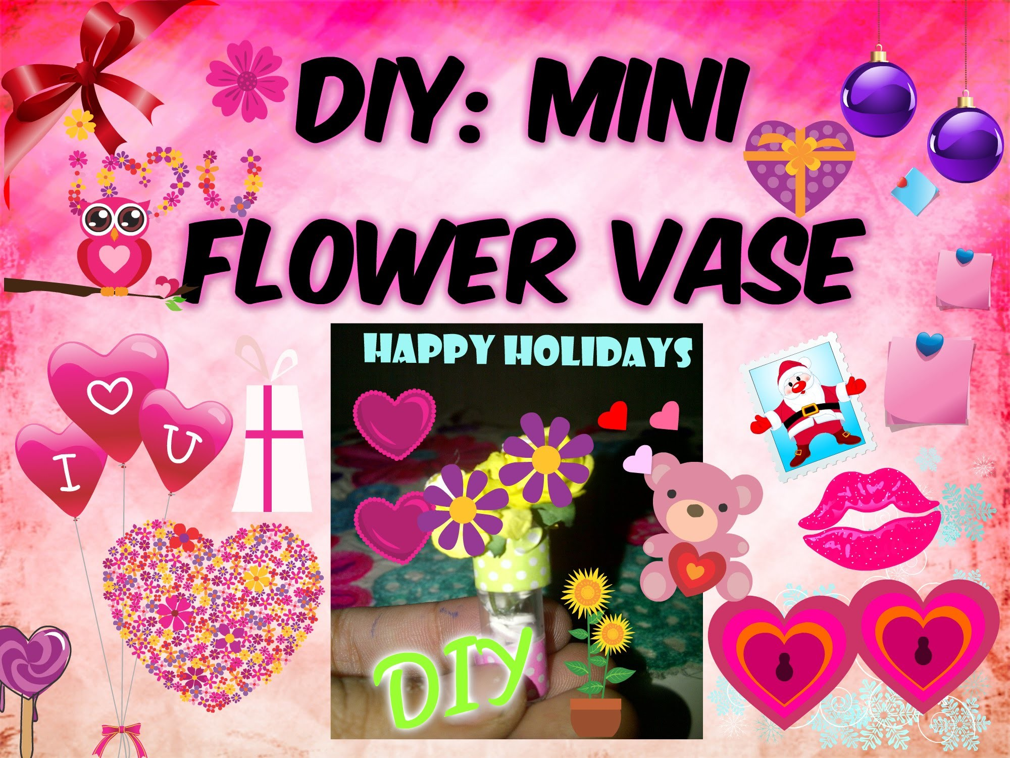 DIY: MINI FLOWER VASE GIFT FOR FREINDS
