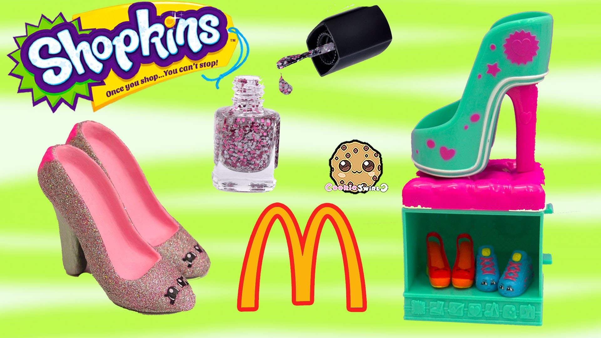 DIY Nail Polish Custom Shopkins Season 3 Mcdonalds Happy Meal Exclusive Toy Easy Craft Video
