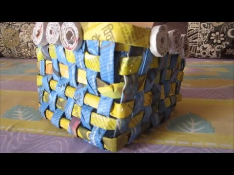 DIY: newspaper basket